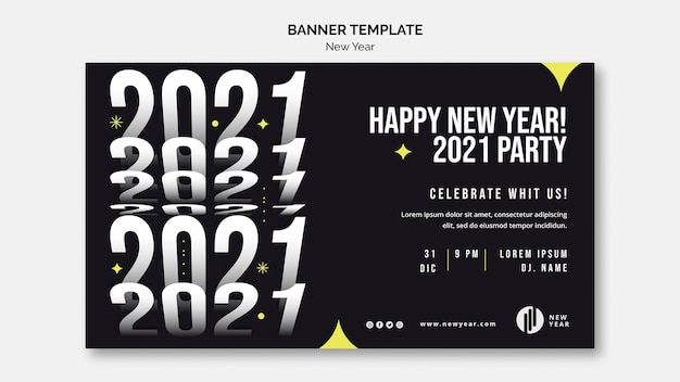 Banner template for new year party