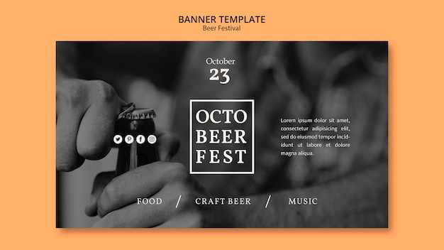Banner template for octobeerfest