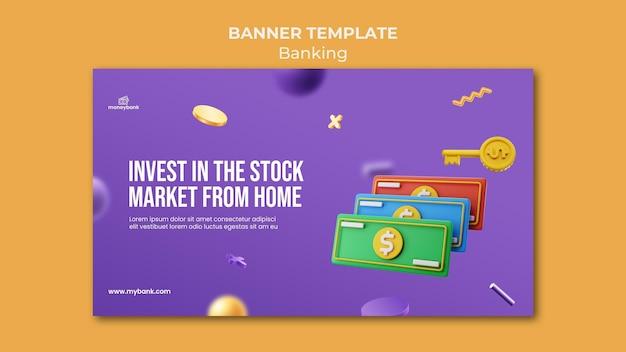 Modello di banner per servizi bancari e finanziari online