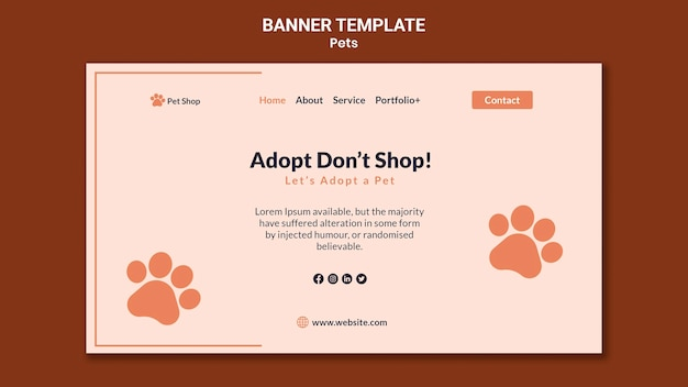 Banner template for pet adoption