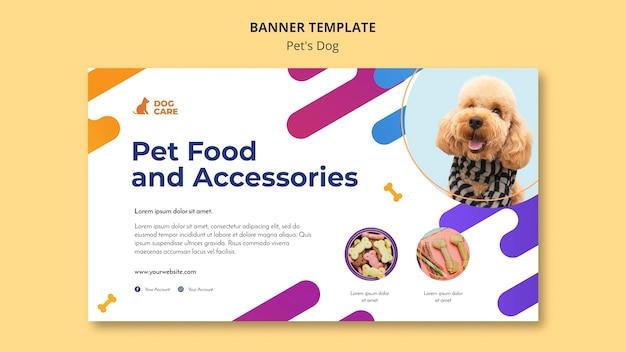 Banner template for pet shop business