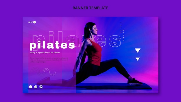Banner template pilates training