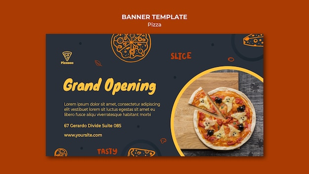 Modello di banner per pizzeria