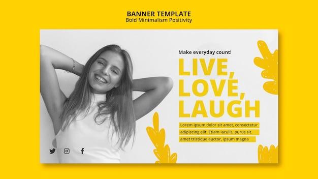 Banner template for positivism