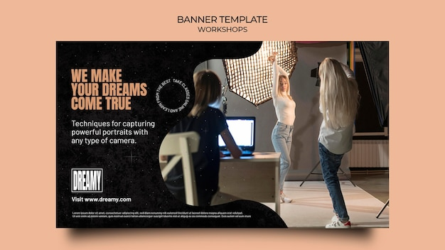 Banner template for profession workshops and classes