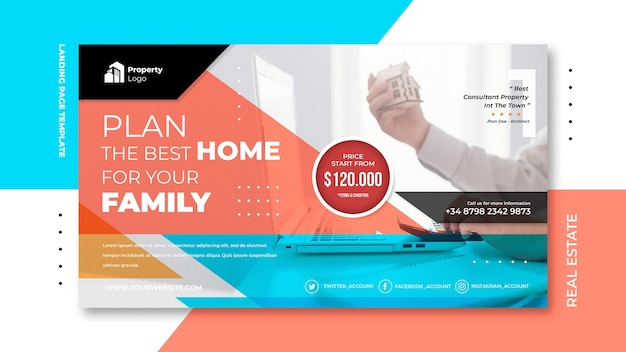 Banner template for real estate company