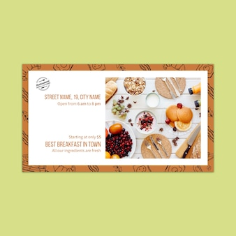 Banner template for restaurant branding concept