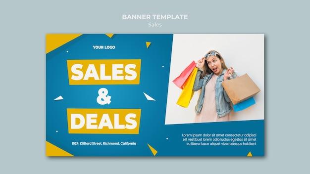 Modello di banner per la vendita al dettaglio