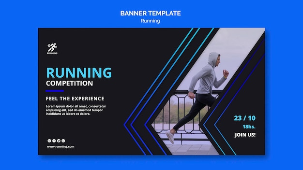 Banner template running competition