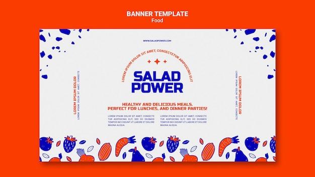 Modello di banner per insalata