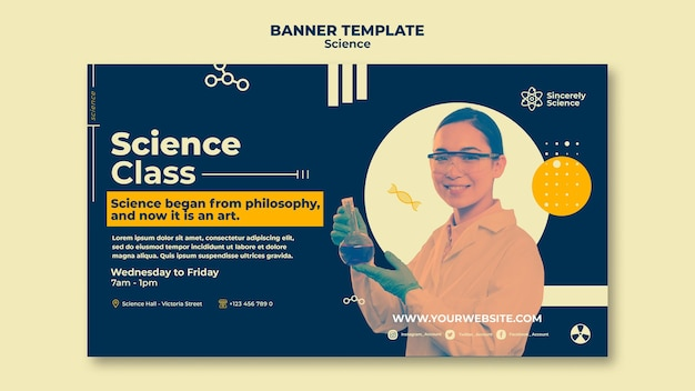 Banner template for science class
