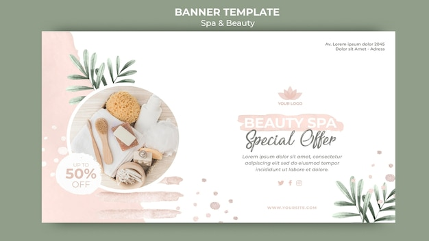 Banner template for spa and beauty