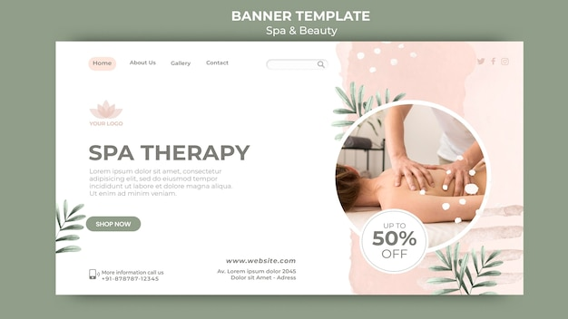 Banner template for spa and relaxation