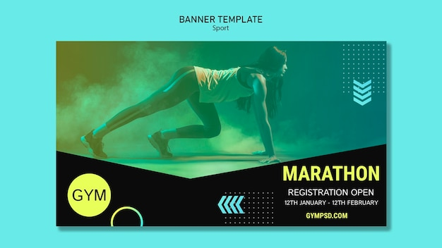 Banner template sport business