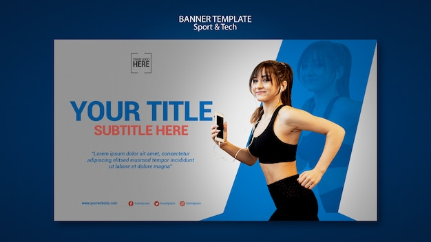 Banner template for sport and tech