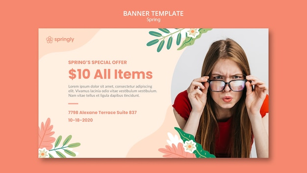 Banner template for spring sale