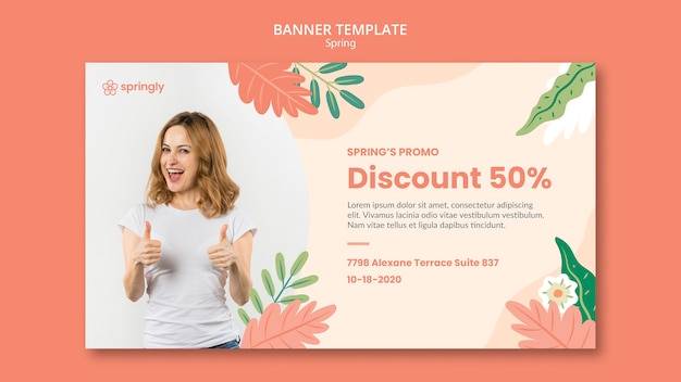 Banner template for spring