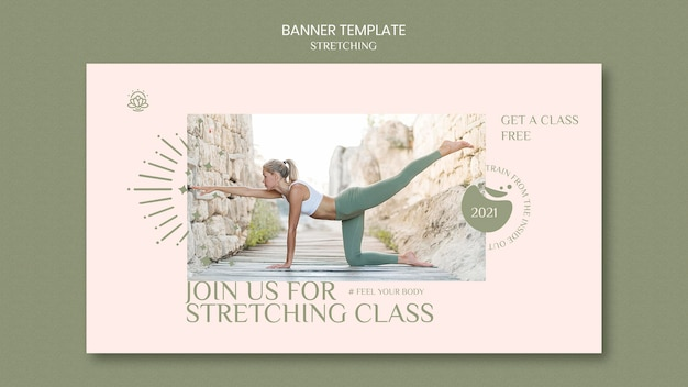 Banner template for stretching course