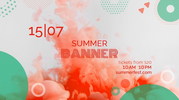 Banner template for summer festival