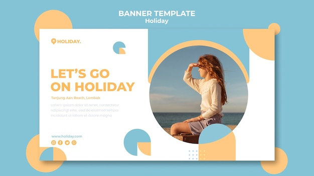 Banner template for summer holiday