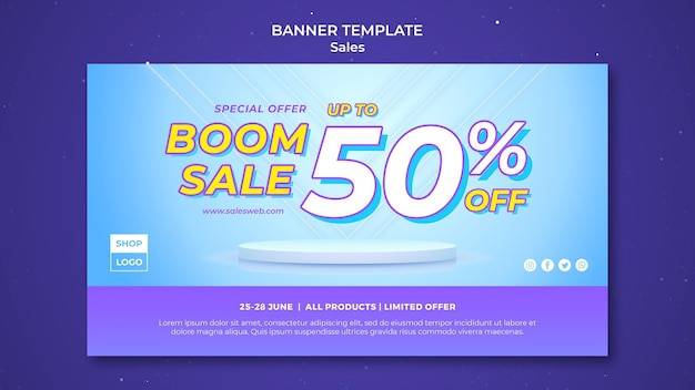 Banner template for super sale