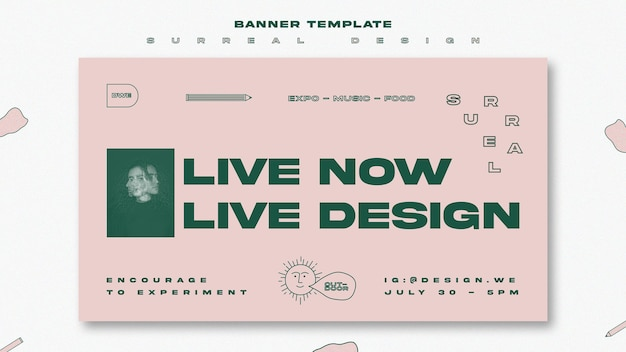 Banner template surreal design event