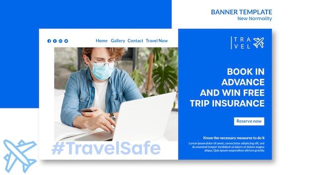 Modello di banner per la prenotazione del viaggio