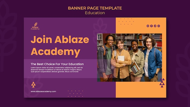 Banner template for university education