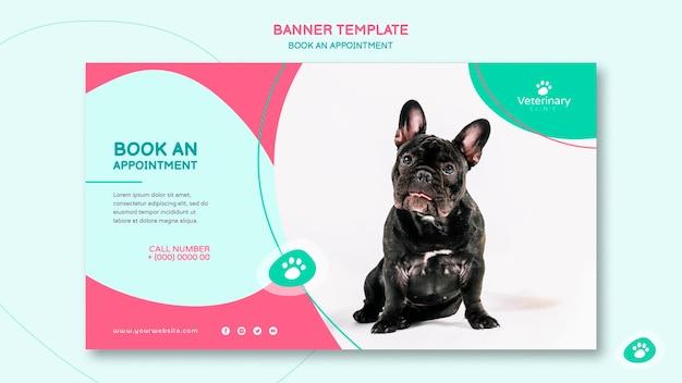 Modello di banner per appuntamento dal veterinario