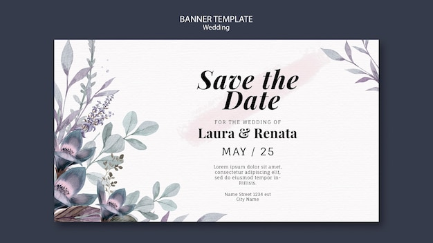 Banner template wedding event