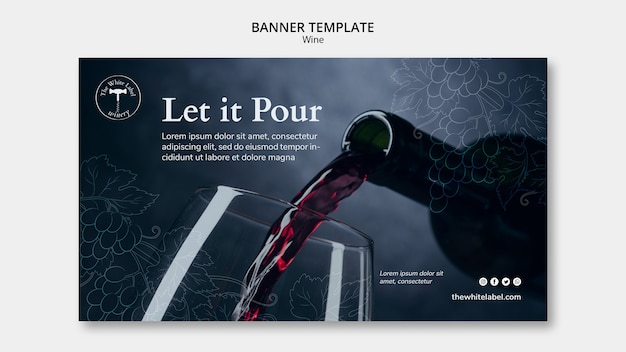 Banner template wine shop