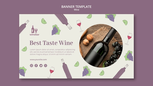 Banner template for wine tasting