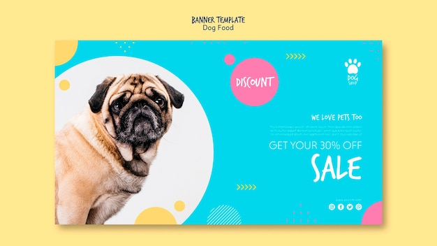 Banner template with 30% off sale