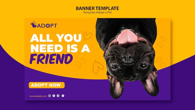 Banner template with adopt pet