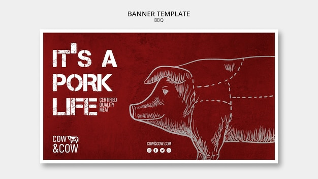 Bannertemplate with bbq concept