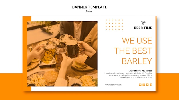 Banner template with beer theme