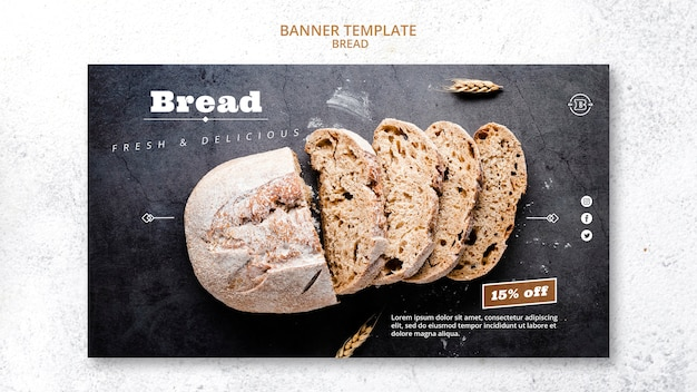 Banner template with bread