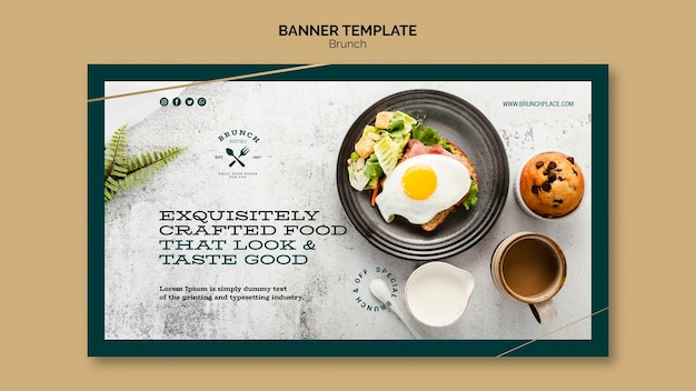 Banner template with brunch theme