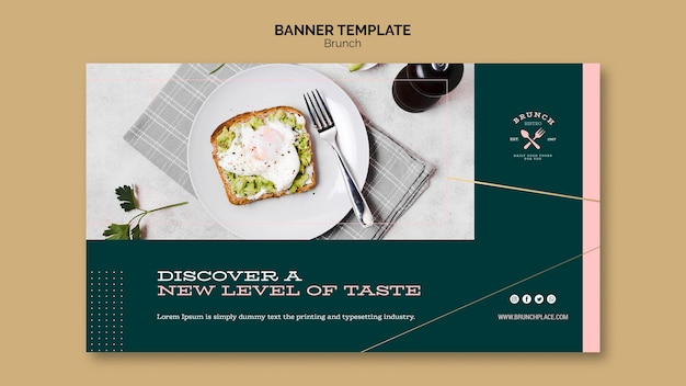Banner template with brunch