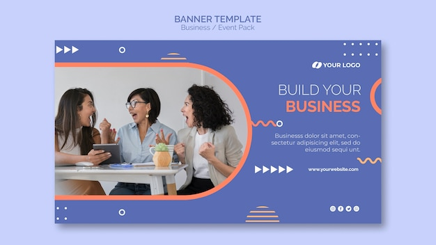 Banner template with business event theme
