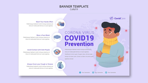 Banner template with covid19