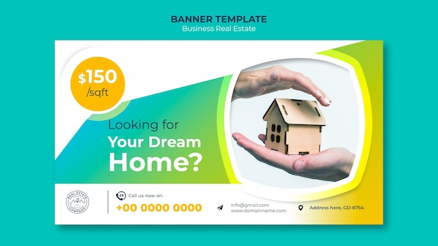 Banner template with dream home