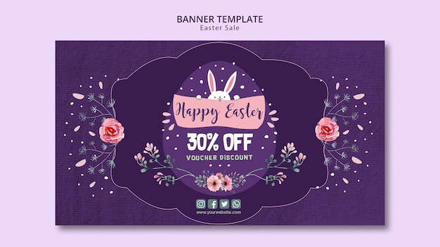 Banner template with easter sales