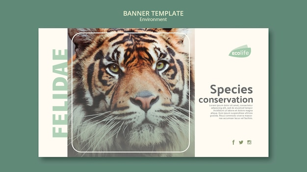 Banner template with environment theme