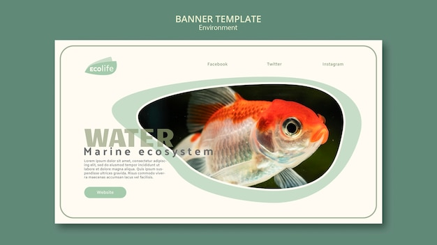 Banner template with environment