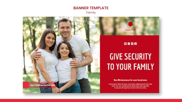 Banner template with family design