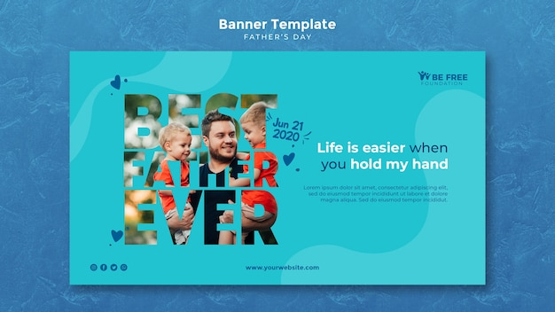 Banner template with fathers day concept