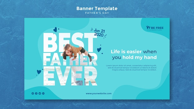 Banner template with fathers day design