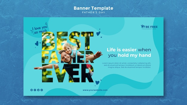 Banner template with fathers day theme