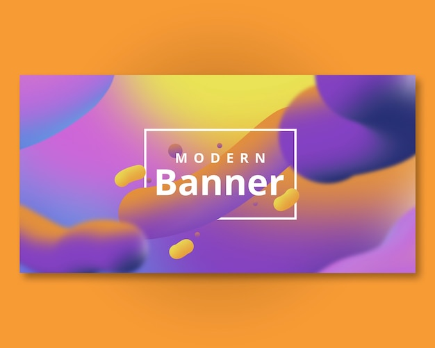 Banner template with fluid background